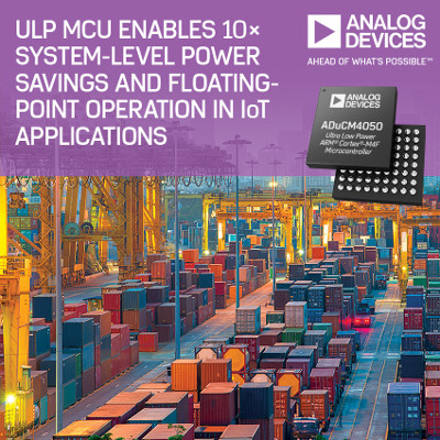 Analog Devices Releases New ARM Ultra-Low Power Microcontroller