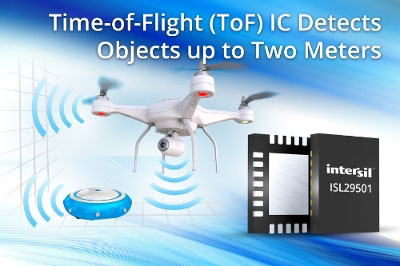Intersil Releases Time-of-Flight IC with Object Detection and Distance Measurement