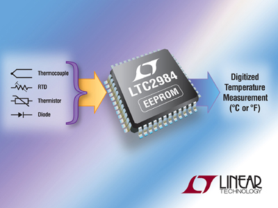 Linear Technology Release new Universal Temperature Sensor IC with EEPROM