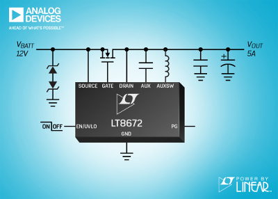 Linear Technology Releases Active Rectifier Controller with Reverse Protection