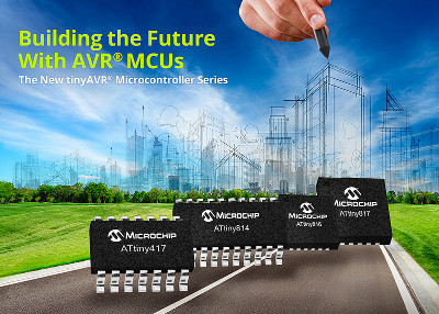 Microchip Releases New AVR Microcontrollers With Core Independent Peripherals