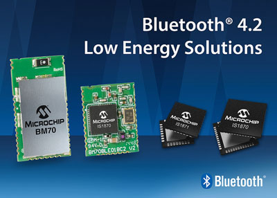 Microchip Release New Bluetooth Low Energy RF IC's Certified to the Latest Bluetooth 4.2 Standard