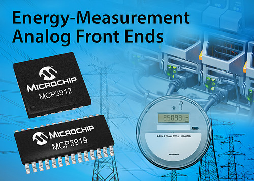 Microchip Release New AFEs for Single Phase Smart Meters