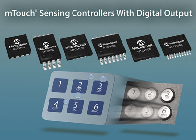 Microchip's new MTouch Sensing Controllers Provide an Easy Method to Replace Mechanical Tactile Buttons