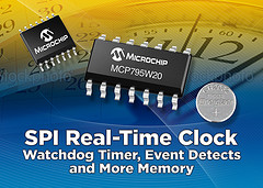 Microchip Releases New SPI Real-Time Clock
