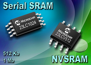 Microchip Releases New High Density 1Mbit Serial SRAM