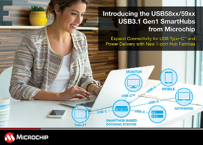 Microchip Releases New Seven-Port USB 3.1 Generation SmartHub IC