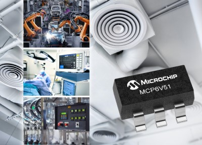 New 45V, Zero-drift Op-Amp from Microchip With Ultra-high Precision