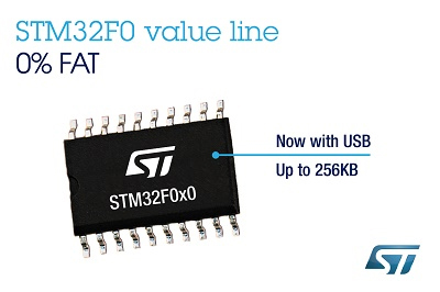 New STM32F0 Value Line ARM Cortex-M0 Microcontrollers
