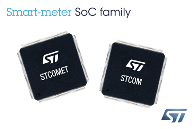 New STCOMET Smart-Meter Solutions with Powerline Communication and Dedicated Security Engine