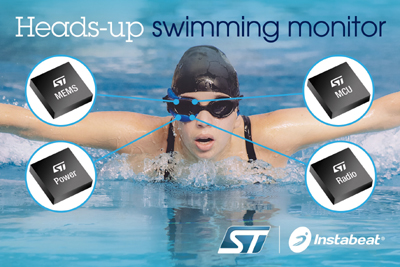 New Heads-Up Swimming Monitor Uses STMicroelectronics Sensors