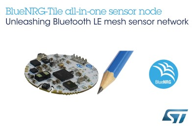 New Tiny Sensor Fusion, Voice Capturing, and Bluetooth 5.0 Mesh Networking Development Kit from ST