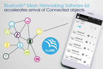 STMicroelectronics Releases New Software Kit for Bluetooth® Mesh Networking
