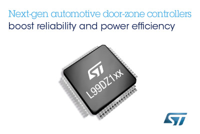 STMicroelectronics New Family of Automotive Door-Zone Controllers
