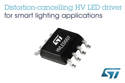 New Distortion-Cancelling AC/DC LED Driver from ST