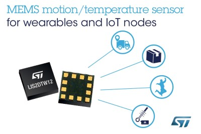 New MEMS Chip Combines Accelerometer with Temperature Sensor
