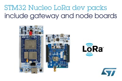 STMicroelectronics Releases LoRa® Development Packs for LPWAN Connectivity