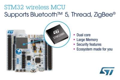 ST Release Dual Core 32-bit ARM Micro with Integrated Bluetooth & 802.15.4 System-on-Chip