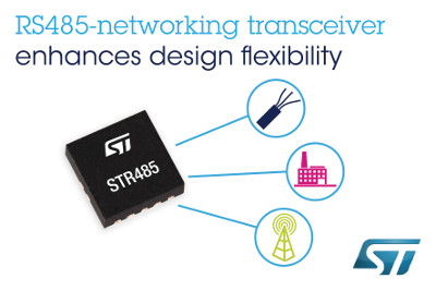 New Selectable Data Rate RS485-Networking Transceiver from STMicroelectronics