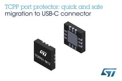 ST Releases Complete USB Type-C Port-Protection IC