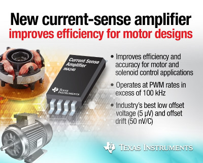 New Improved Accuracy Current-Sense Amplifier From Texas Instruments