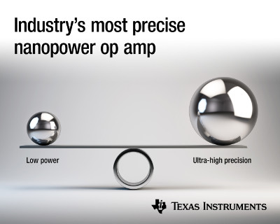 New Zero-Drift, Nanopower Amplifier from TI