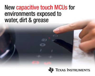 New MSP430 Microcontrollers from TI with Capacitive Touch Sensing