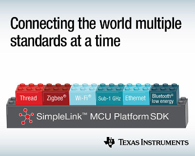 New TI MCU's with Thread, Zigbee and Bluetooth Connectivity