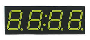 7FW3941BW - Four White 0.39in Common Anode 7-Segment LED Clock Display