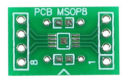 Back Side - 8 pin MSOP Adapter
