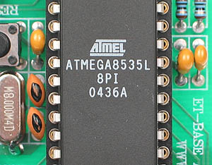 Click for Larger Image - Atmel ATmega8535L Microcontroller