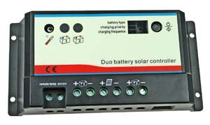 10A Dual Battery Solar Charger