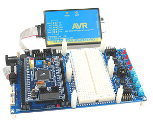 ET-AVR JTAG with the new ET-AVR Stamp and Stamp Board