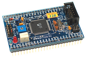 Click for Larger Image - ET-AVR Stamp ATMega128 Microcontroller