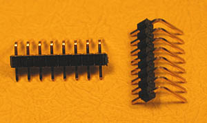 HEADRAS8 - 8 Pin .100inch Right Angle Male Headers