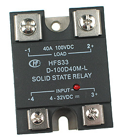 SSRDC200V40A - SPST 0-200Vdc 40A DC Solid State Relay