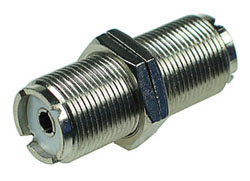 UHF Female Double Bulkhead Connector