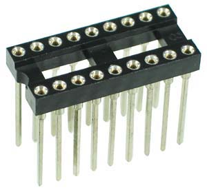 ICS18MTWW - 18 Pin Machine Tooled Wire Wrap IC Socket
