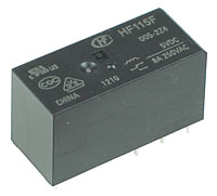 JQX-115F-12 - DPDT 12V 8A PCB Relay