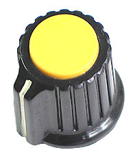 KNOB10 - Plastic Knob with Yellow Top