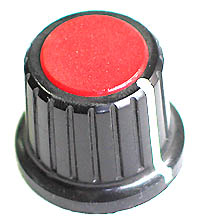 KNOB14 - Large Plastic Knob with Red Top