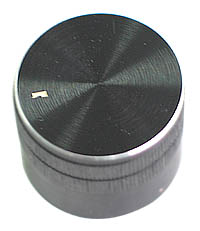 KNOB5 - Medium Black Aluminium Knob with Pointer