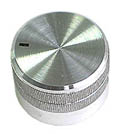 Silver Finish - Aluminium Knob with Pointer