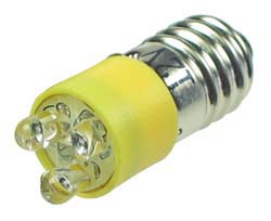 LEDE10YW - E10 12V LED Replacement Lamp Yellow