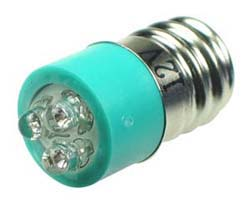 LEDE12GR - E12 12V LED Replacement Lamp - Green