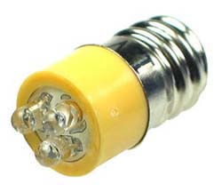 LEDE12YW - E12 12V LED Replacement Lamp Yellow
