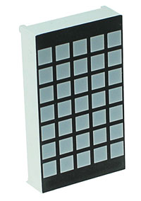 LEDMS57O - Orange 5x7 Square Led Matrix Display