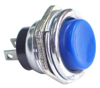 PLBLUE - SPST off-on BLUE Large Pushbutton