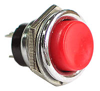 PLRED - SPST off-on RED Large Pushbutton