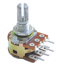 POT10KDUAL - 10Kohm Dual Linear Rotary Taper Potentiometer